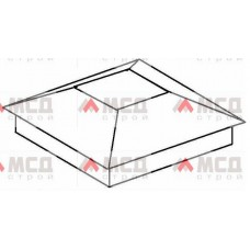 Тип 1. Колпак на столб заборный с четырехскатной крышей, 300х300