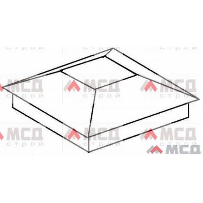 Тип 1. Колпак на столб заборный с четырехскатной крышей, 550х550