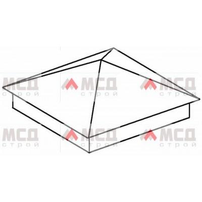 Тип 1. Колпак на столб заборный с четырехскатной крышей, 300 мм х 300 мм, RAL
