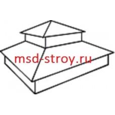 Тип 11. Колпак на столб заборный с двойной четырехскатной крышей, 400 мм х 400 мм, RAL