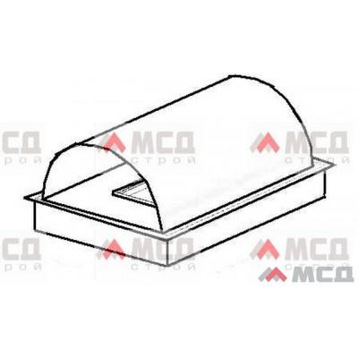 Тип 15. Колпак оголовок на трубу с полукруглой крышей Деревенский, PE, 390 х 390 мм