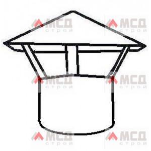 """Тип 17. Колпак-зонтик с крышей """"конус"""" на трубу круглого сечения"""