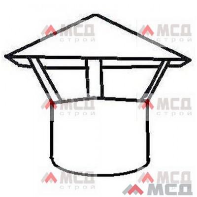 Тип 17. Колпак-зонтик с крышей конус на трубу круглого сечения