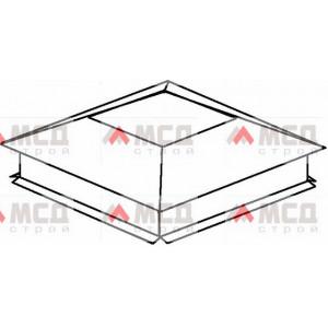 Тип 2. Колпак на столб заборный с четырехскатной крышей с «разрезным» капельником, 300х300