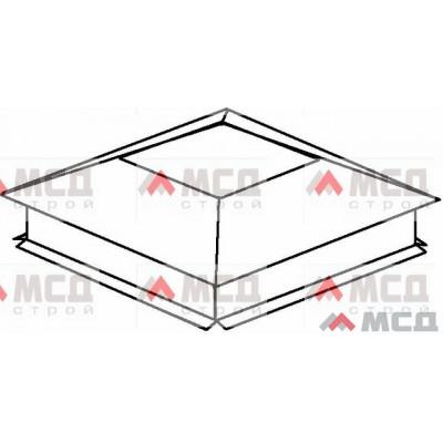 Тип 2. Колпак на столб заборный с четырехскатной крышей с «разрезным» капельником, 550х550