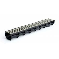 aqua-top, канал пластиковый в сборе с оцинкованной решеткой dn90