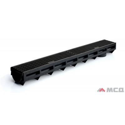 aqua-top, канал пластиковый в сборе с пластиковой решеткой, dn90