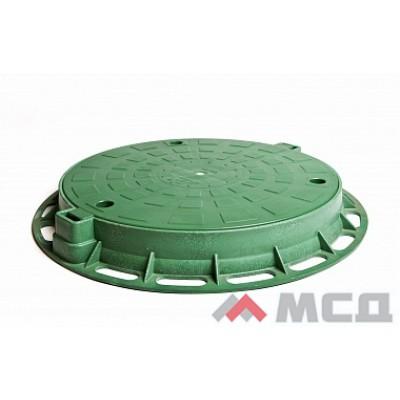 люк пластиковый лёгкий малый а15 зелёный
