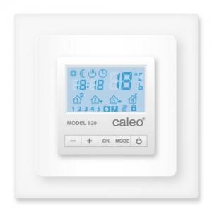 Терморегулятор CALEO 920 с адаптерами, встраиваемый цифровой, программируемый, 2 кВт