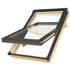 деревянное мансардное окно fakro thermo с двухкамерным стеклопакетом