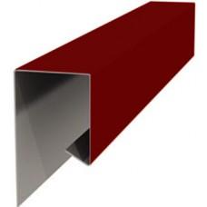 Планка завершающая металлическая ПЭ-3005 вишневая 30х25х2000мм