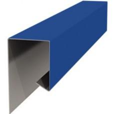 Планка завершающая металлическая ПЭ-5005 синяя 20х20х2000мм
