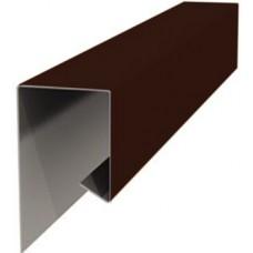 Планка завершающая металлическая ПЭ-8017 коричневая 20х20х2000мм