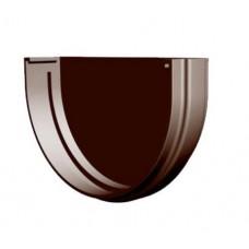 Заглушка желоба пластиковая коричневая Docke