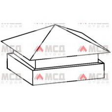 Тип 5. Колпак на столб заборный с четырехскатной крышей с двойным увеличенным основанием, 300 мм х 300 мм