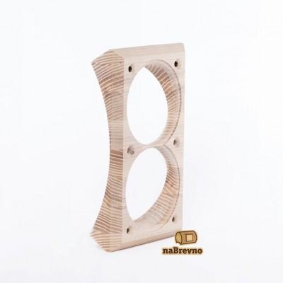 Вертикальная двойная накладка на бревно 300 мм, дуб