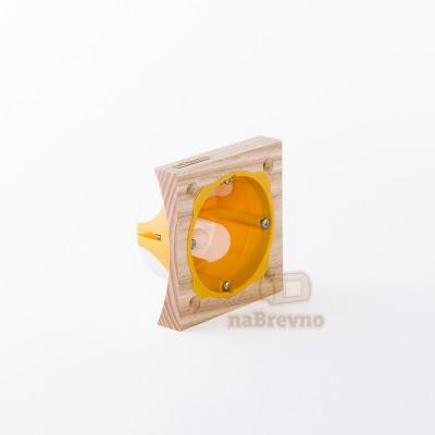 Герметичный подрозетник с подложкой на бревно 220 мм, одноместный
