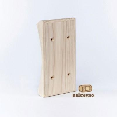 Вертикальная двойная накладка на бревно 200 мм, дуб