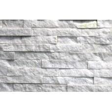 камень-панель кварцит белый