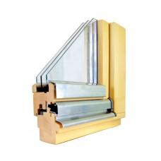 окно деревяное трёхстворчатое, 2050*1530