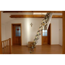 лестница чердачная ножничная lux