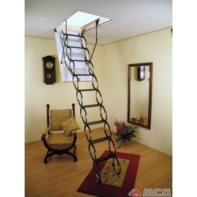 лестница чердачная ножничная termo