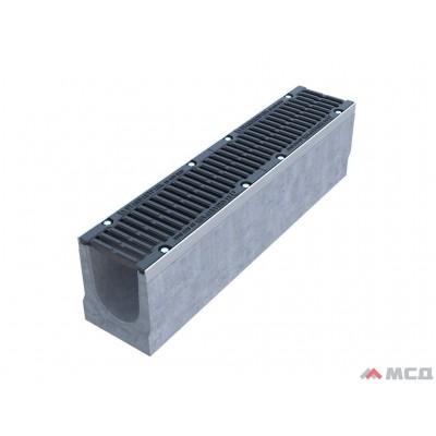 лоток betomax drive лв–15.21.21–б бетонный с решеткой щелевой чугунной вч кл.d (комплект) 72,8 кг