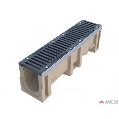 лоток полимербетон compomax лв-16.25.31–п с реш. водоотв. щель вч кл.е (к-т) 68,16 кг