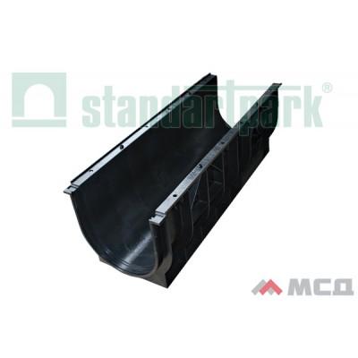 лоток водоотводной polymax basic лв-30.39.35-пп пластиковый 8740