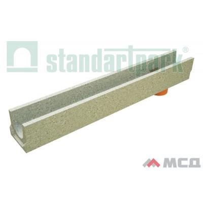 лоток водоотводный betomax basic лв-10.14.13-бв бетонный с вертикальным водоотводом 400009