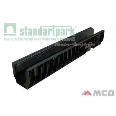 лоток водоотводный polymax basic лв-10.16.16-пп 8000 пластиковый