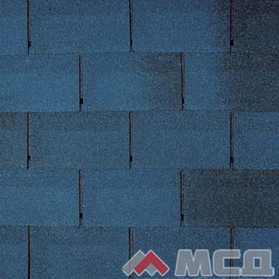 кровельная плитка классик, цвет синий с отливом