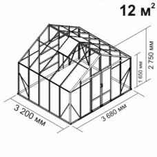 Алюминиевая теплица botanik Maximum 12 кв.м.