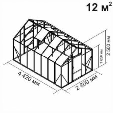 Алюминиевая теплица botanik Standard 12 кв.м.