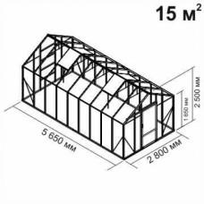 Алюминиевая теплица botanik Standard 15 кв.м.