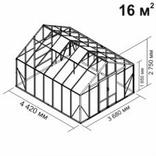 Алюминиевая теплица botanik Maximum 16 кв.м.
