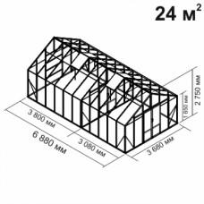 Алюминиевая теплица botanik Maximum 24 кв.м.