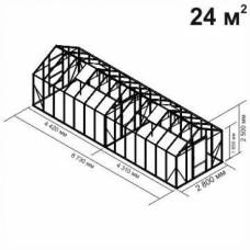 Алюминиевая теплица botanik Standard  24 кв.м.