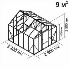 Алюминиевая теплица botanik Standard 9 кв.м.
