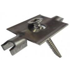 клипса монтажная нержавеющая сталь в комплекте с саморезом 4,2х41 мм