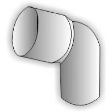Колено Plastmo D90 60 гр. белое