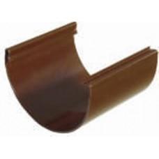 Соединитель желоба Plastmo D120 коричневый