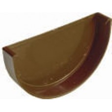 Заглушка желоба Plastmo D120 коричневая