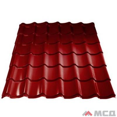 Металлочерепица Weckman (Векман) профиль Marette (тип 1, 2, 3), Mat PE/Purex 0,5 26 мкм, RR29 (красный)